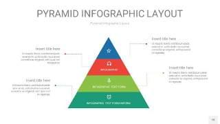 红绿色3D金字塔PPT信息图表18