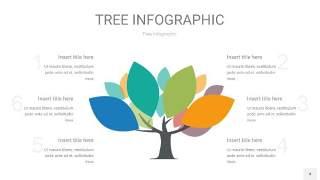 多彩树状图PPT图表4