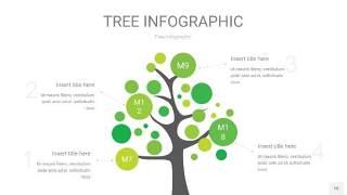 浅绿色树状图PPT图表10
