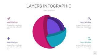 紫蓝色3D分层PPT信息图43