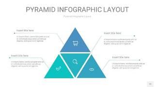 天蓝绿3D金字塔PPT信息图表13