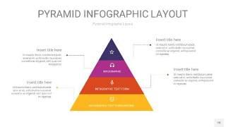 彩色3D金字塔PPT信息图表18