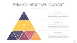 中紫色3D金字塔PPT信息图表15