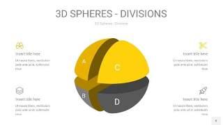 灰黄色3D球体切割PPT信息图8