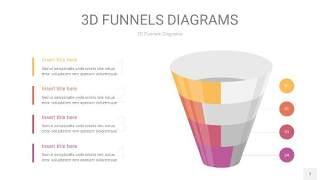 橙色系3D漏斗PPT信息图表7