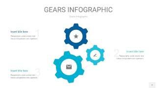 宝石蓝齿轮PPT信息图2