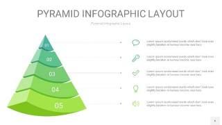 浅绿色3D金字塔PPT信息图表6