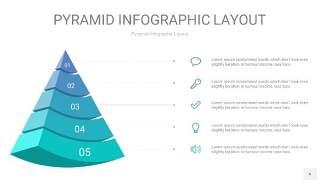天蓝绿3D金字塔PPT信息图表6