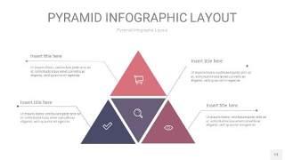 中紫色3D金字塔PPT信息图表13