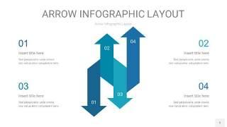 天蓝绿箭头PPT信息图表5