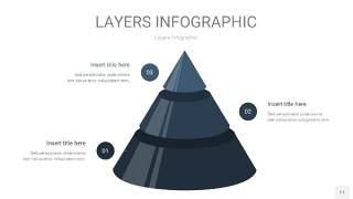 深天蓝色3D分层PPT信息图11