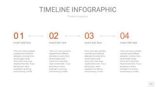 橘红色时间轴PPT信息图11