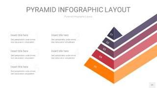 中紫色3D金字塔PPT信息图表21