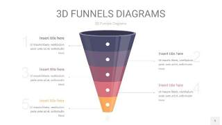 中紫色3D漏斗PPT信息图表5