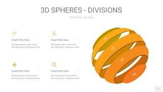 黄色3D球体切割PPT信息图7