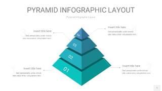 天蓝绿3D金字塔PPT信息图表1