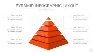 橘红色3D金字塔PPT信息图表4