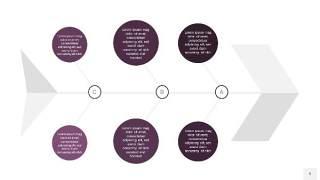 深紫色鱼骨PPT信息图表9