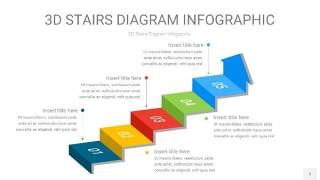 多彩3D阶梯PPT图表5