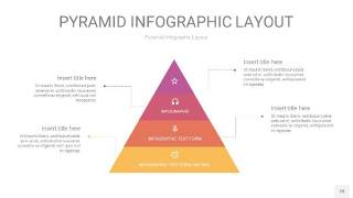 渐变紫黄色3D金字塔PPT信息图表18