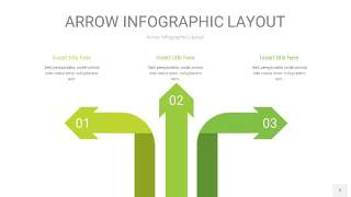浅绿色箭头PPT信息图表2