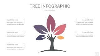 莫兰迪紫色树状图PPT图表5