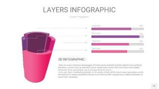 粉紫色3D分层PPT信息图53