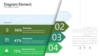 绿色立体创意PPT图表18