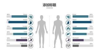 蓝色医疗医院用PPT图表14