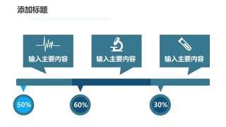 蓝色医疗医院用PPT图表23