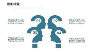 蓝色医疗医院用PPT图表24