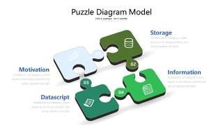 绿色立体创意PPT图表20