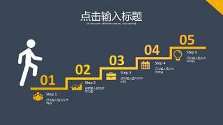 黄色PPT图表7