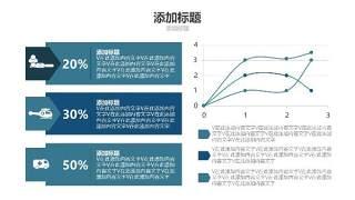蓝色医疗医院用PPT图表18