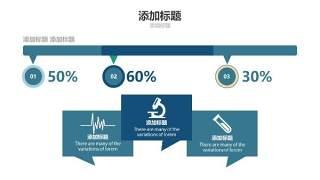 蓝色医疗医院用PPT图表13