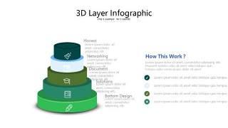 绿色立体创意PPT图表5