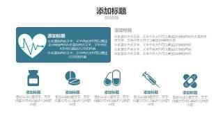 蓝色医疗医院用PPT图表3