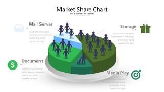 绿色立体创意PPT图表21