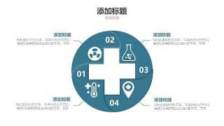 蓝色医疗医院用PPT图表10