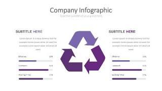 紫色思维箭头PPT信息可视化图表26