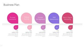 炫彩时间轴时间线PPT信息可视化图表9