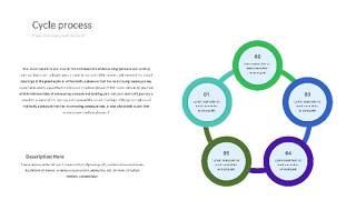 紫绿色饼状PPT信息可视化图表30