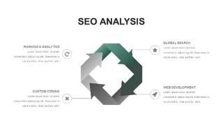 灰绿色创意图形PPT信息可视化图表18