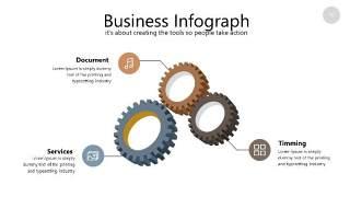 咖啡色思维导图PPT信息可视化图表16