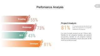 浅色系百分比PPT信息可视化图表21