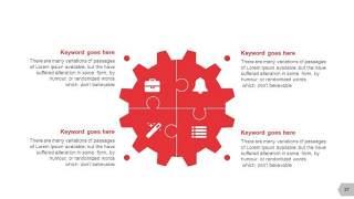 红色图形创意信息可视化PPT图表37
