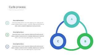 紫绿色饼状PPT信息可视化图表31