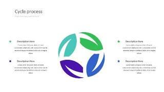 紫绿色饼状PPT信息可视化图表32