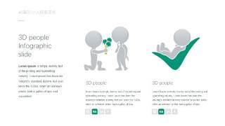 3D小人PPT信息可视化图表10