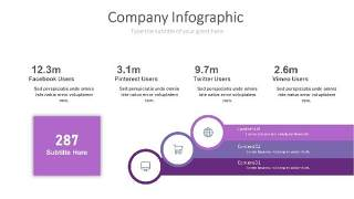 紫色思维箭头PPT信息可视化图表20